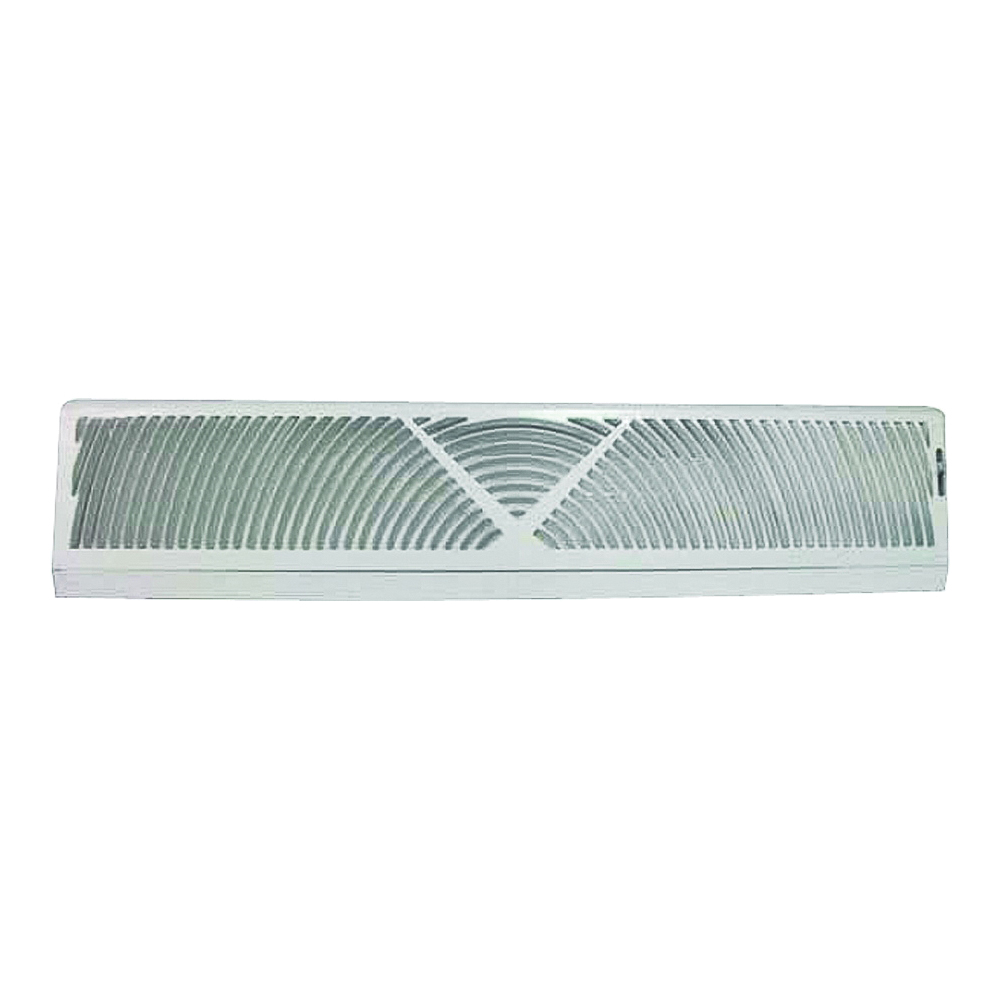 Picture of ProSource BB-24W Baseboard Register, 24 in L, 4-1/2 in W, 60 deg Air Deflection, Steel, White