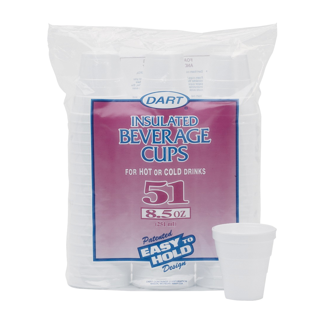 Picture of WinCup 951HW Beverage Cup, 8 oz Cup, Foam