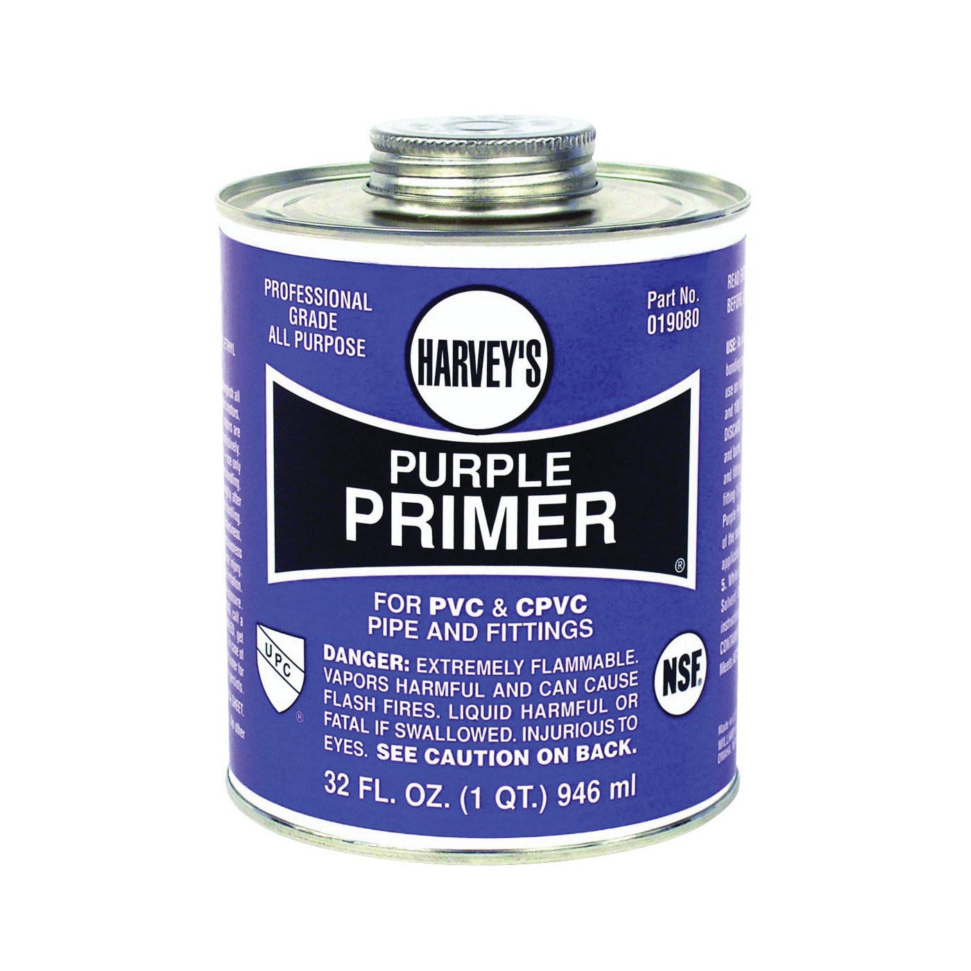 Picture of HARVEY 019080-12 Professional-Grade Primer, Liquid, Purple, 32 oz Package, Can