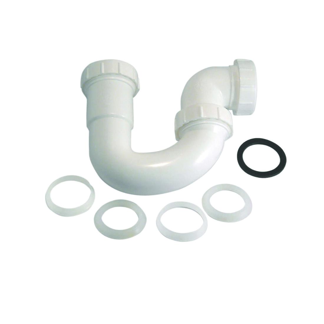 Picture of Danco 94005 Swivel P-Trap, 1-1/2 in, Slip Joint, Plastic, White