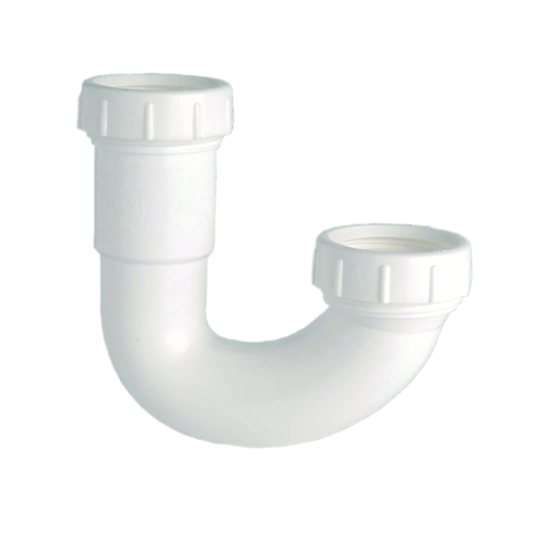 Picture of Danco 94006 J-Bend Trap, 1-1/2 in, Slip Joint, Plastic, White