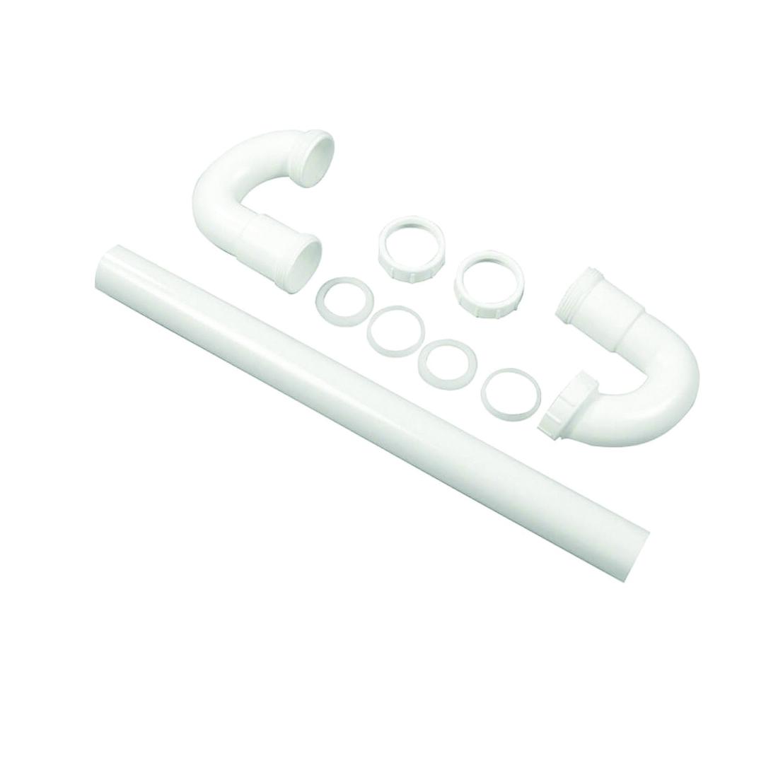 Picture of Danco 94007 S-Trap, 1-1/2 in, Slip Joint, Plastic, White