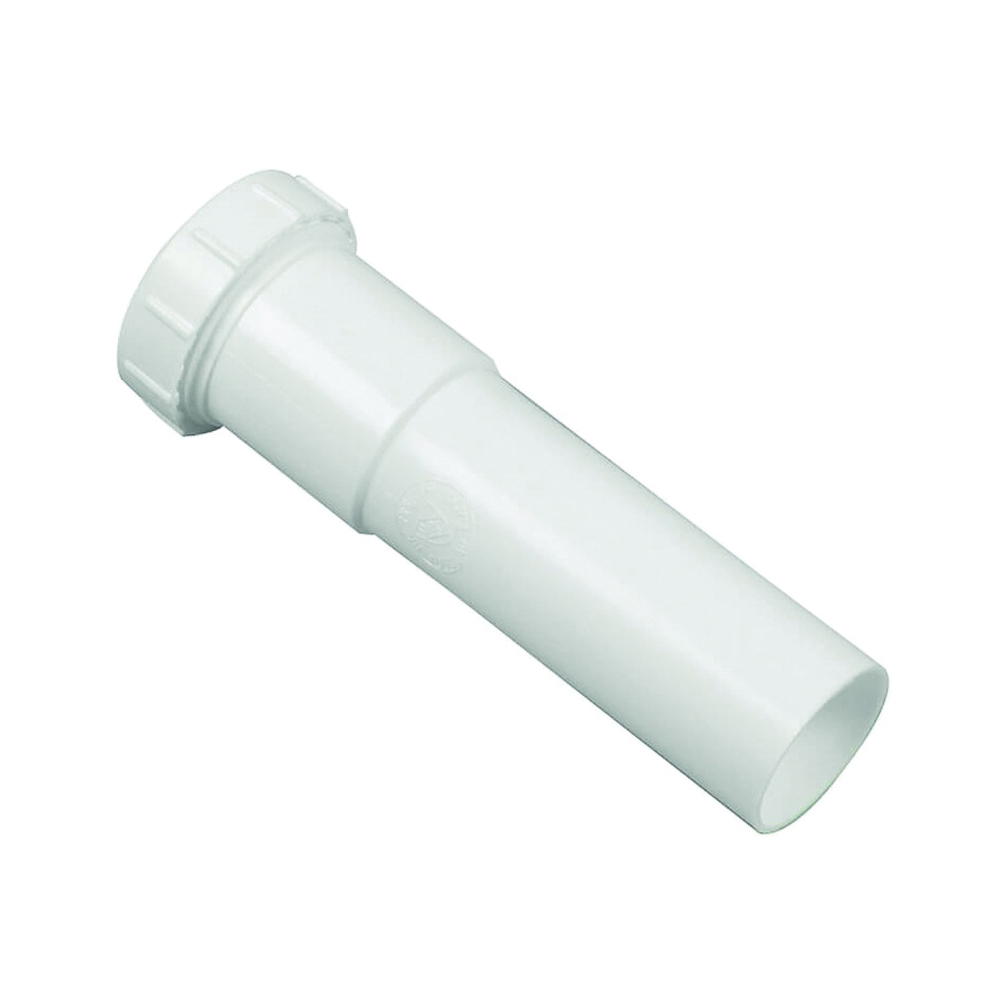 Picture of Danco 94029 Extension Tube, 1-1/4 in, 6 in L, Slip Joint, Plastic, White
