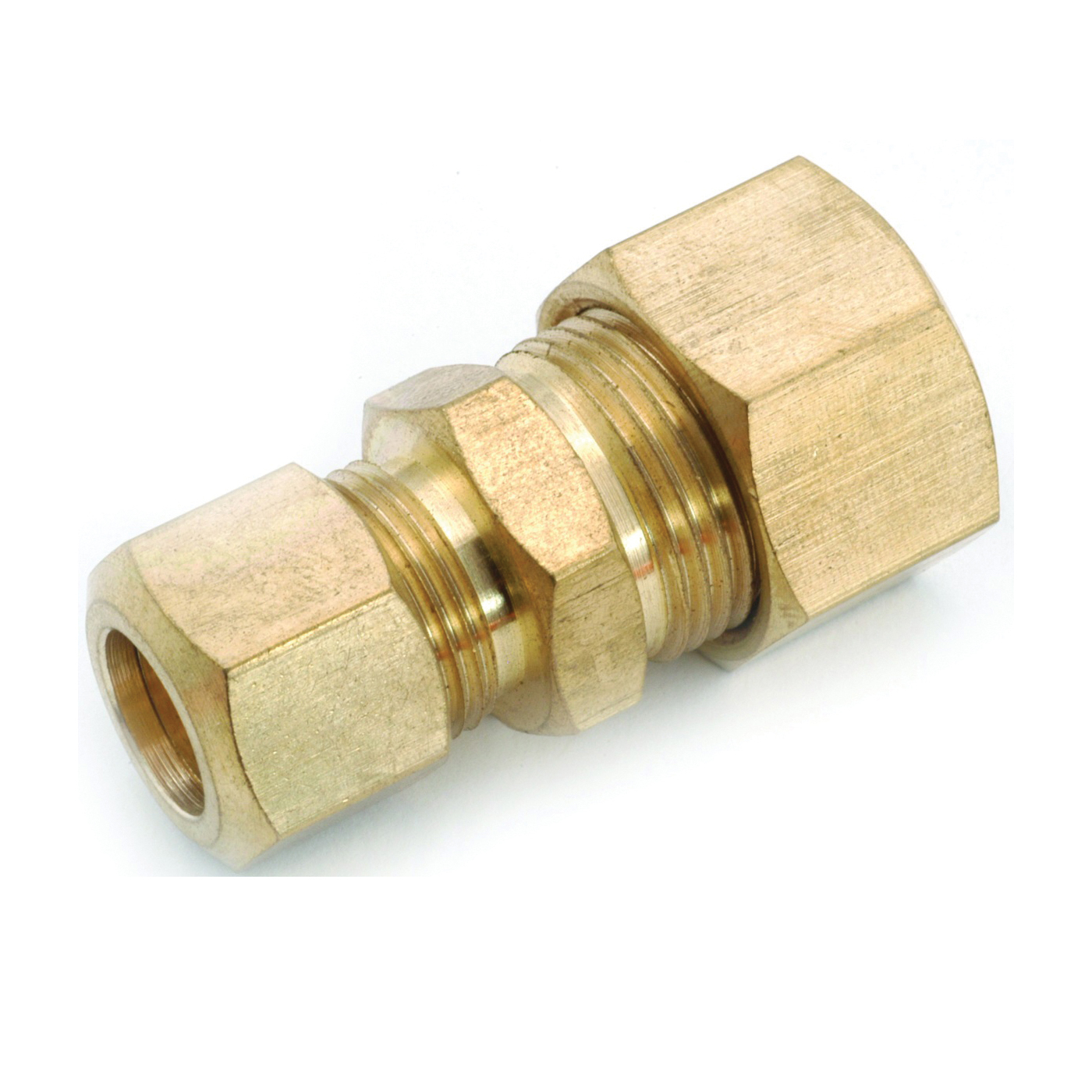 Picture of Anderson Metals 750082-1006 Tube Reducing Union, 5/8 x 3/8 in, Compression, Brass