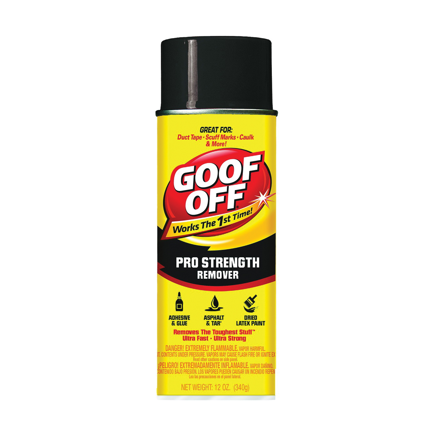 Picture of Goof Off FG658 Latex Paint Remover, Liquid, Solvent, Colorless, 12 oz, Aerosol Can