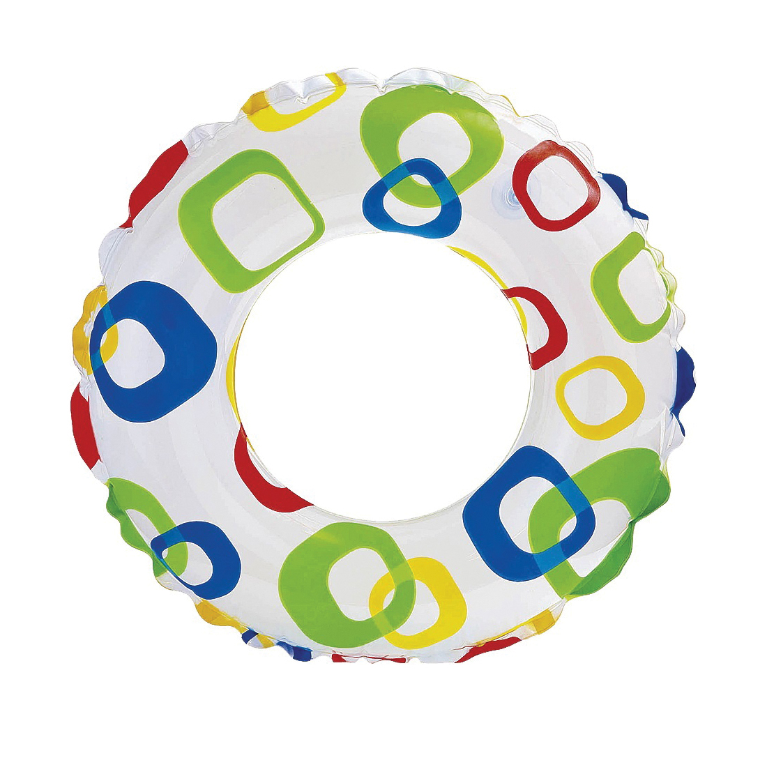 Picture of INTEX 59230EP Lively Print Swim Ring, Vinyl, Assorted
