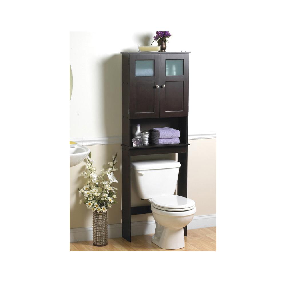 Picture of Zenna Home Modern 9820CH Bathroom Spacesaver, 3-Shelf, Wood, Espresso