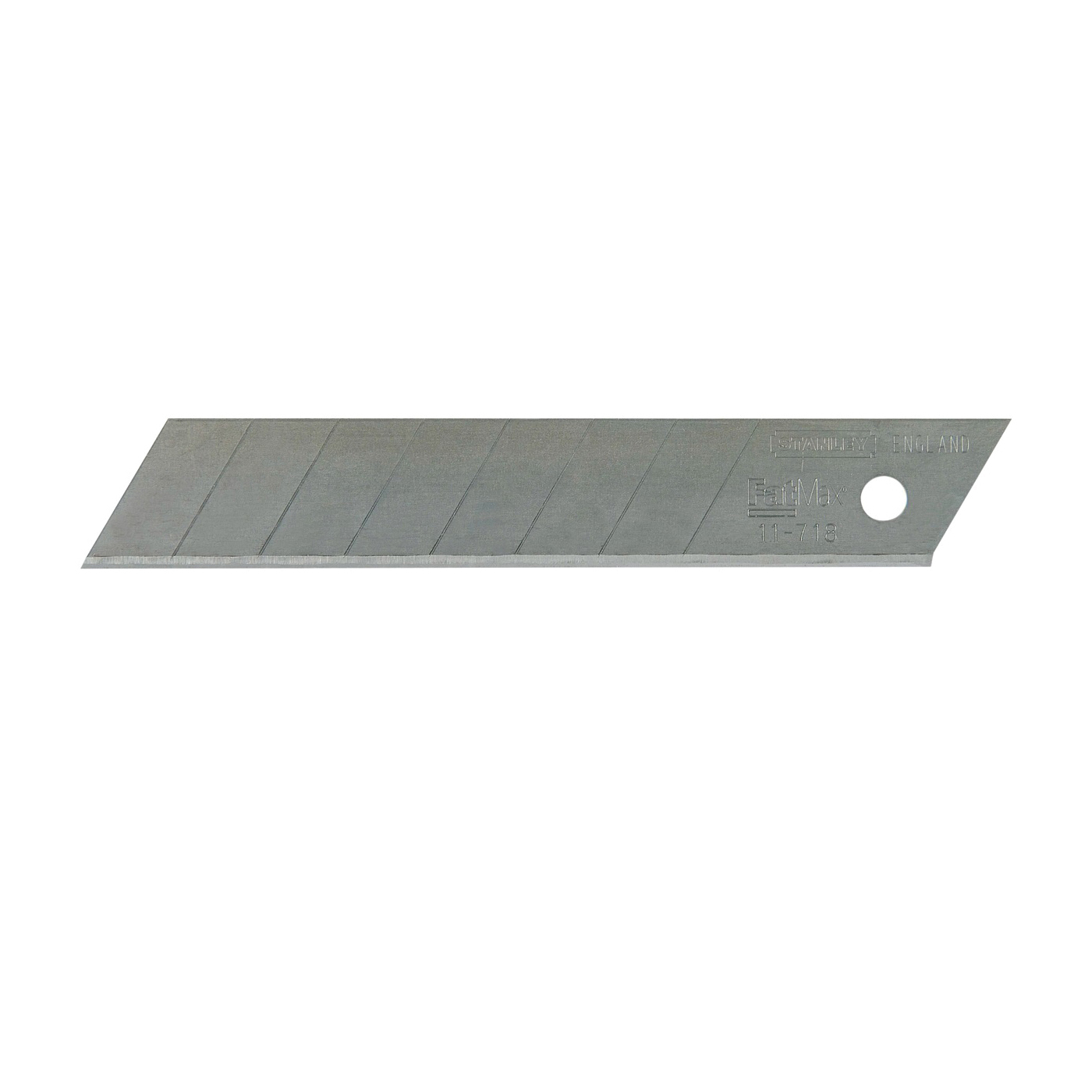 Picture of STANLEY 11-718 Knife Blade, 18 mm, 4-1/4 in L, Carbon Steel, 8 -Point, 5/PK, Pack