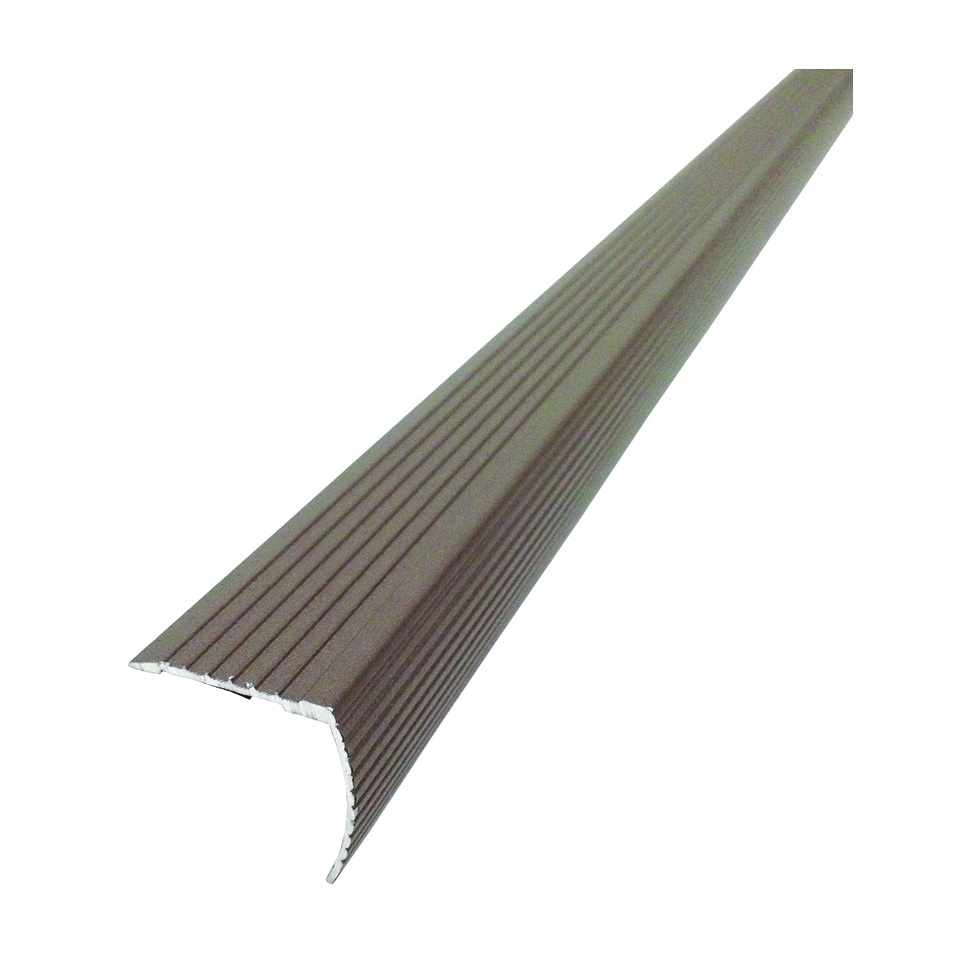 Picture of M-D 43311 Fluted Stair Edge, 36 in L, 1.22 in W, Metal, Spice