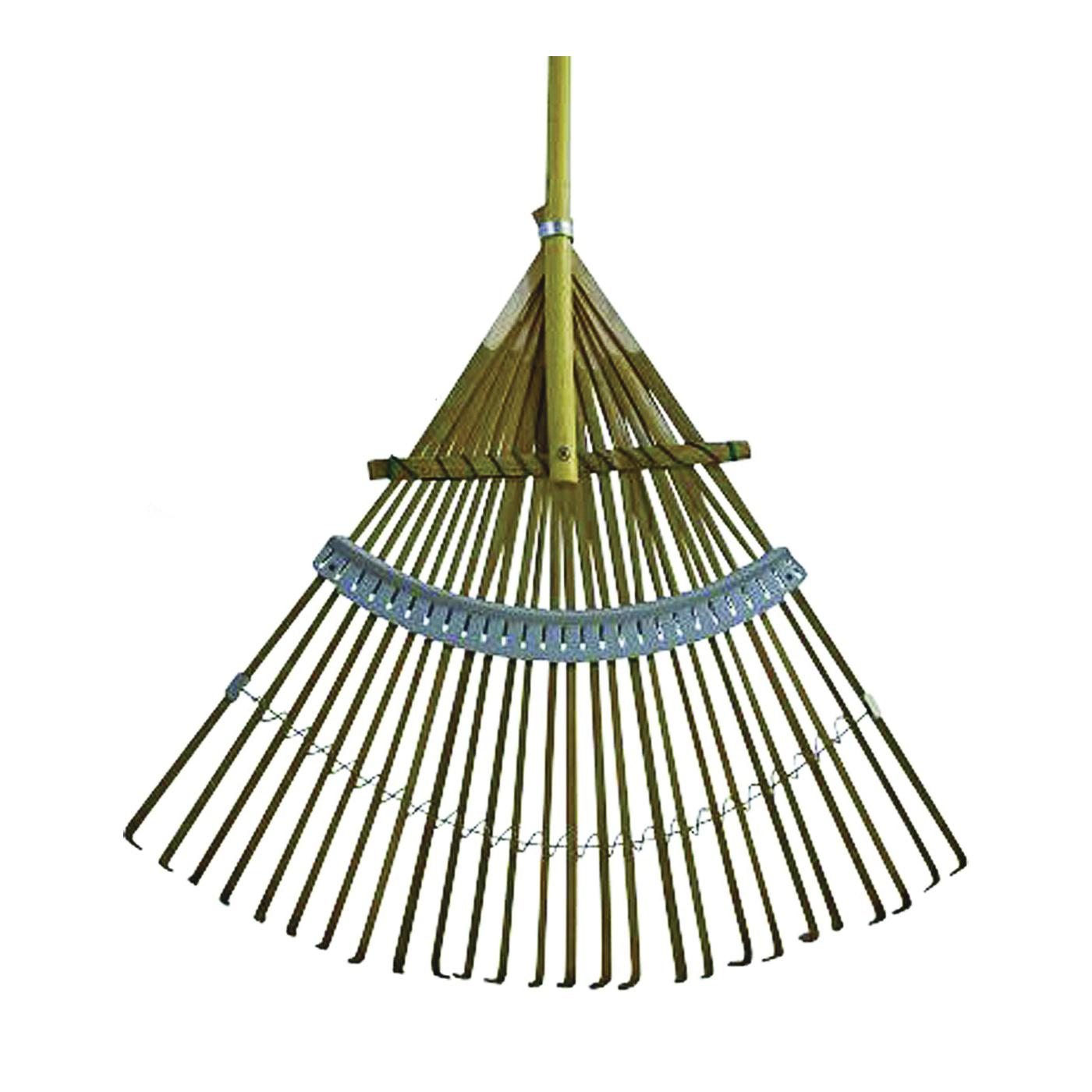 Picture of Flexrake CFP24 Leaf Rake, Bamboo Tine, Hardwood Handle, 48 in L Handle