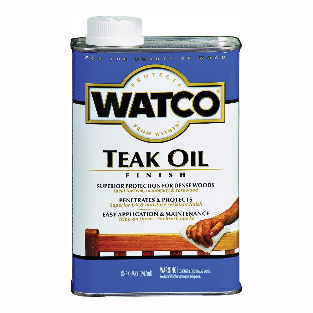Picture of WATCO A67141 Teak Oil Finish, Liquid, 1 qt, Can
