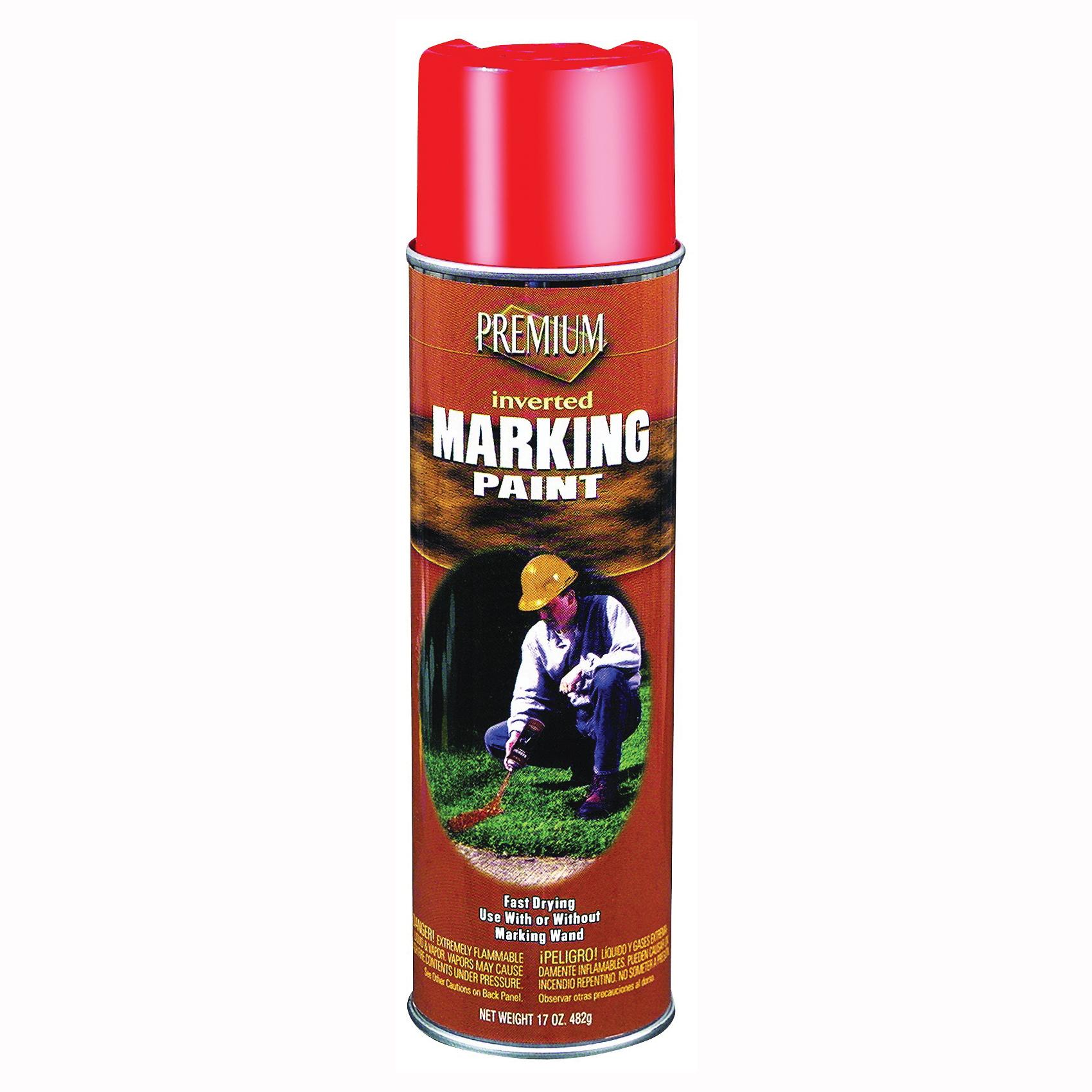 Picture of RUST-OLEUM PR1001 Premium Marking Spray Paint, Orange, 15 oz, Aerosol Can