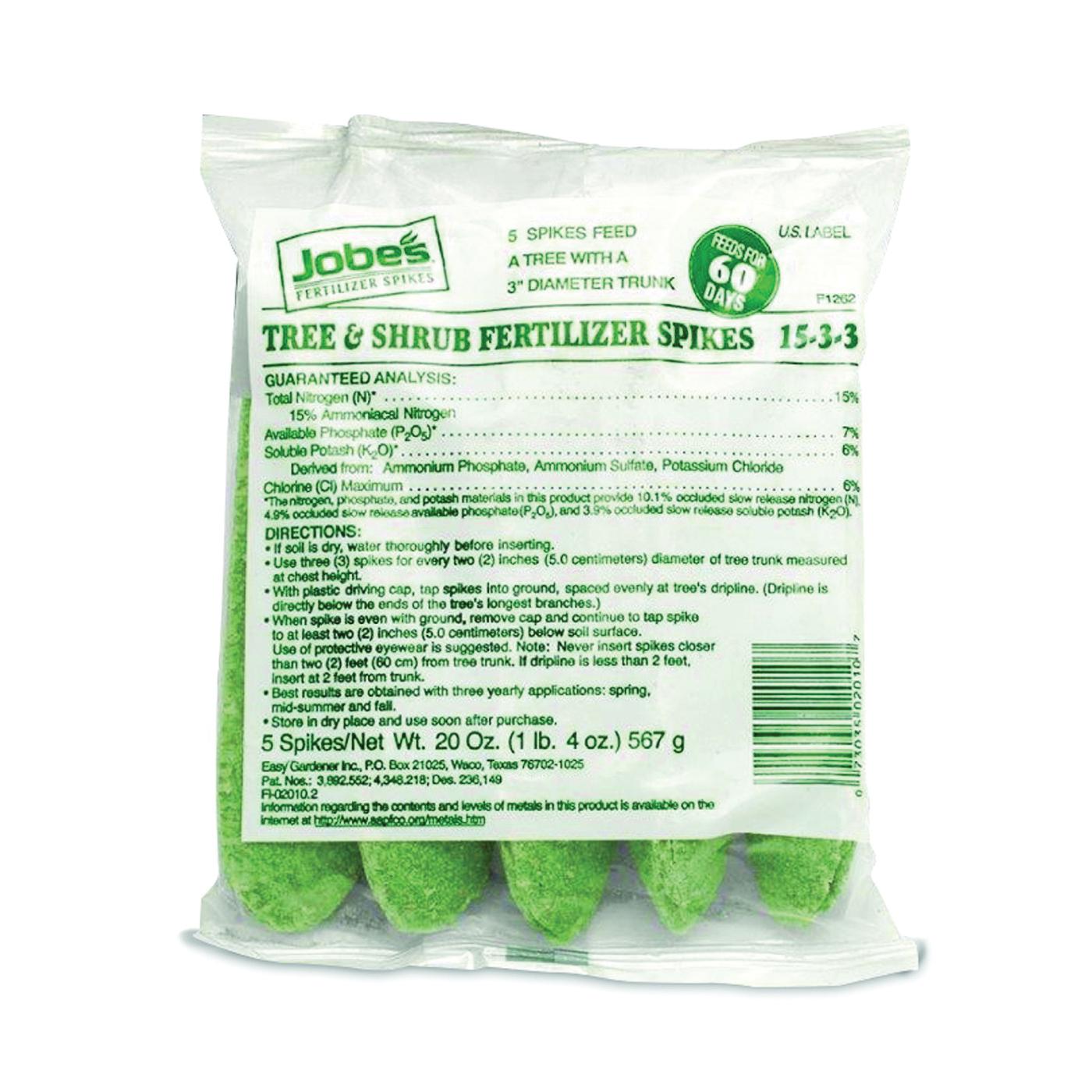 Picture of Jobes 02010 Fertilizer Spike Bag, Spike, Light Green, Slight Ammonia, Bag