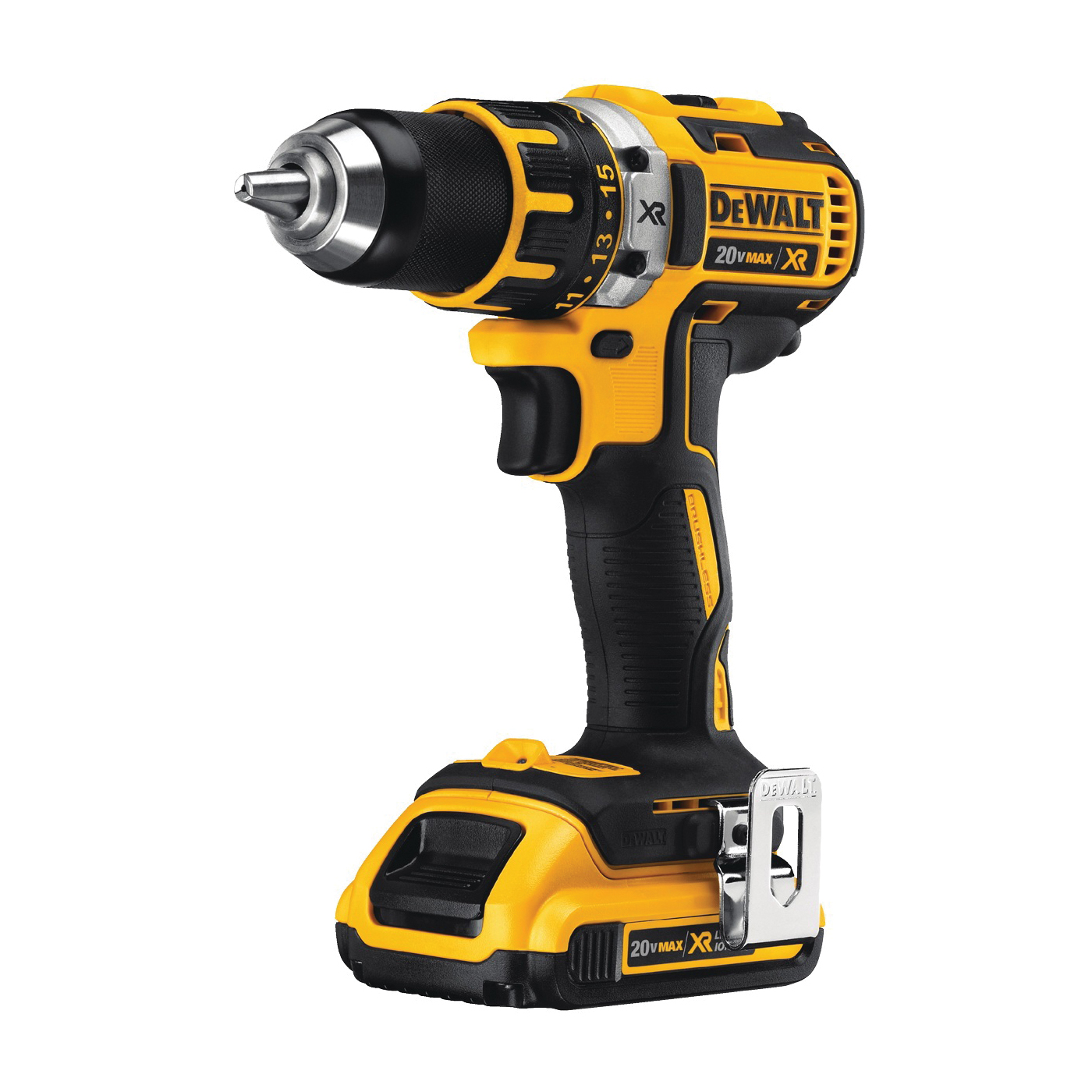Picture of DeWALT DCD791D2/DCD790D2 Drill/Driver Kit, Kit, 20 V Battery, 1/2 in Chuck, Ratcheting Chuck, Battery Included: Yes