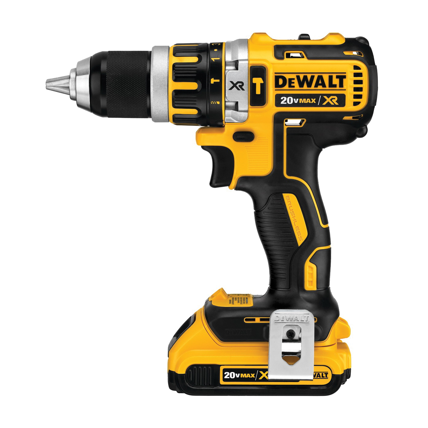 Picture of DeWALT DCD796D2/DCD795D2 Hammer Drill Kit, Kit, 20 V Battery, 2 Ah, 1/2 in Chuck, Ratcheting Chuck