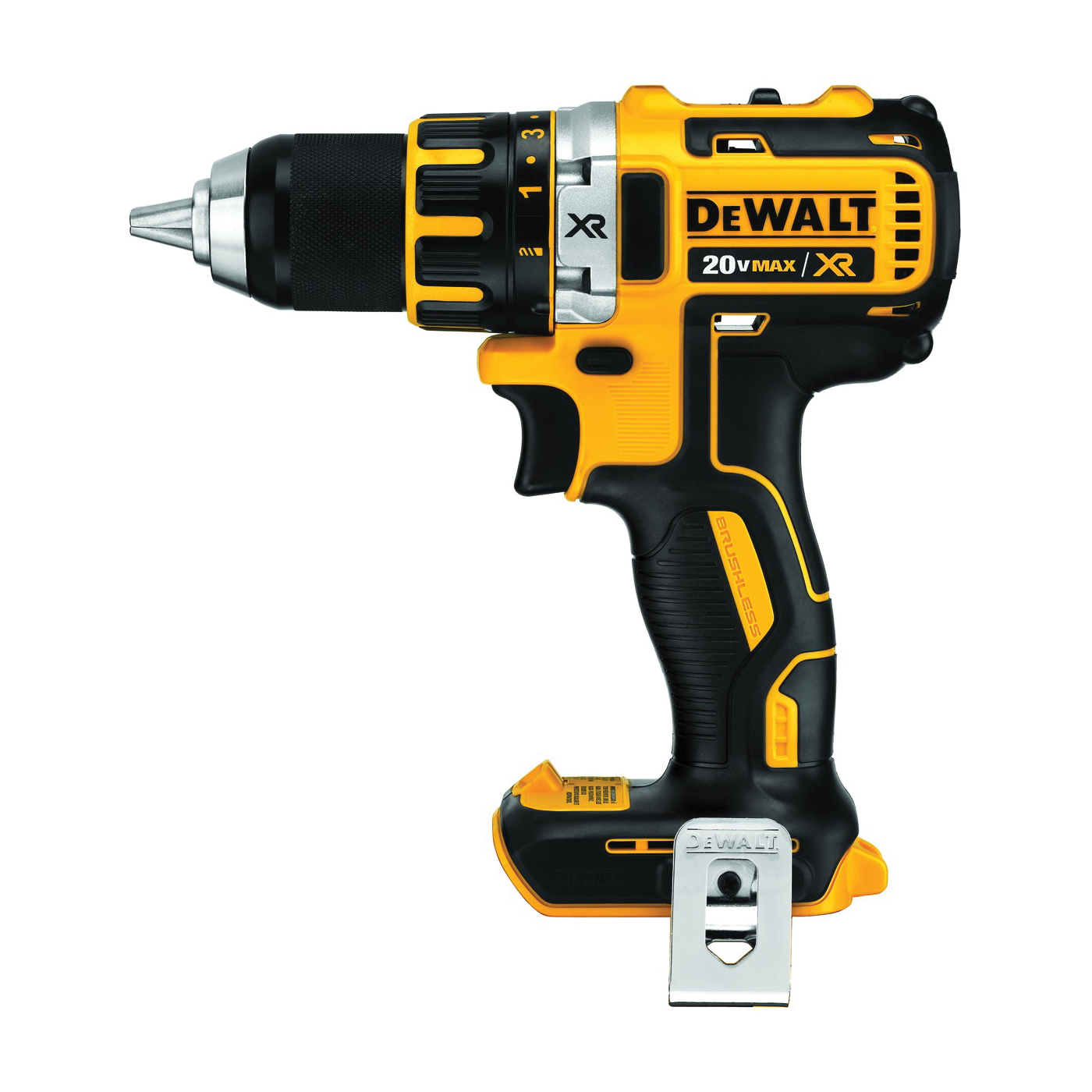 Picture of DeWALT DCD791B Drill/Driver, Bare Tool, 20 V Battery, 1/2 in Chuck, Ratcheting Chuck, Battery Included: No
