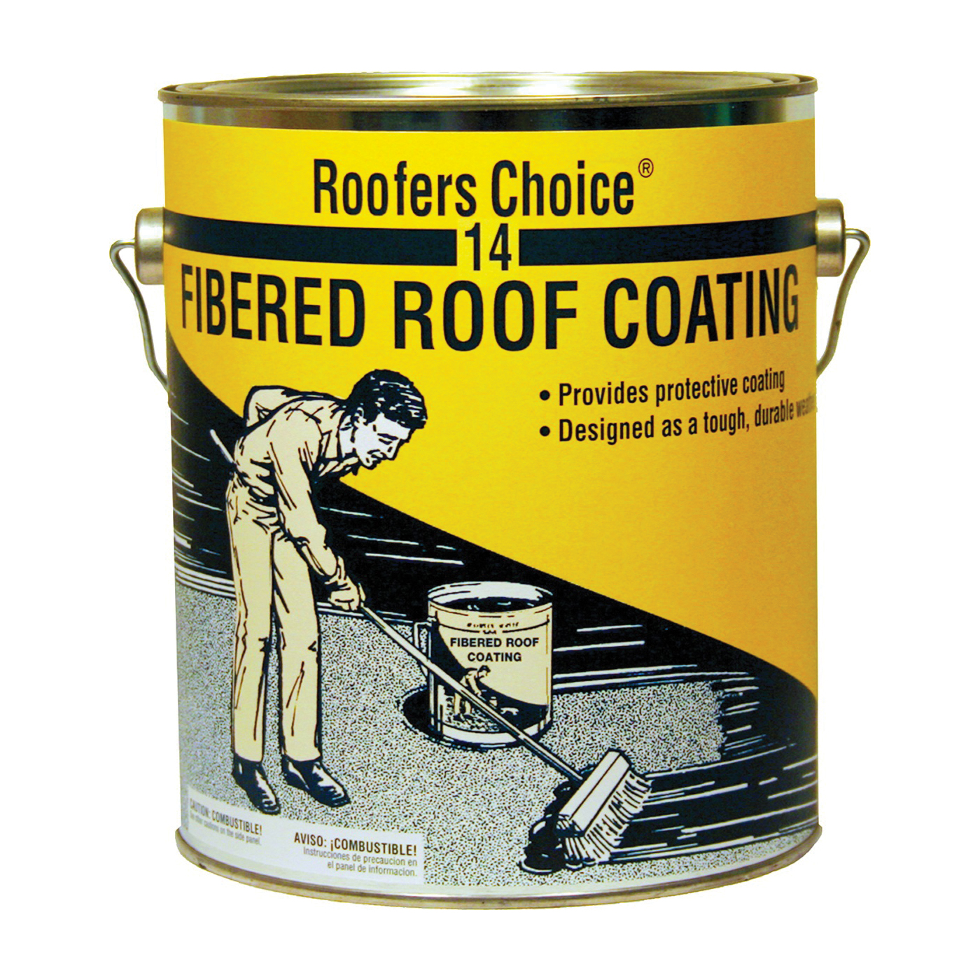Picture of Henry Roofers Choice RC014042 Roof Coating, Black, 3.76 L, Liquid