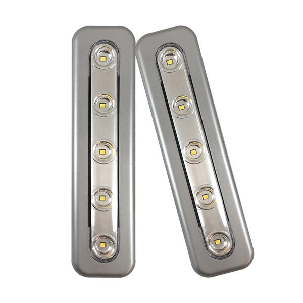 Picture of AmerTac 71187CC-T2 Mini Task Bar, AAA Battery, 1-Lamp, LED Lamp, 70 Lumens, 3000 K Color Temp, Plastic, Silver