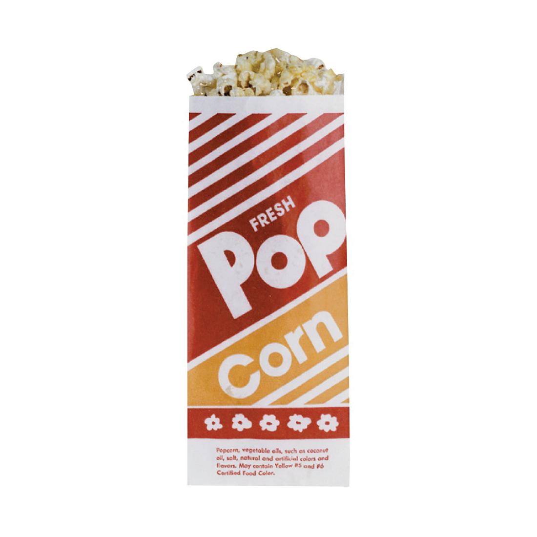 Picture of Gold Medal 2053 Popcorn Bag, 1 oz Capacity, Bright Orange/Red, 1000, Case