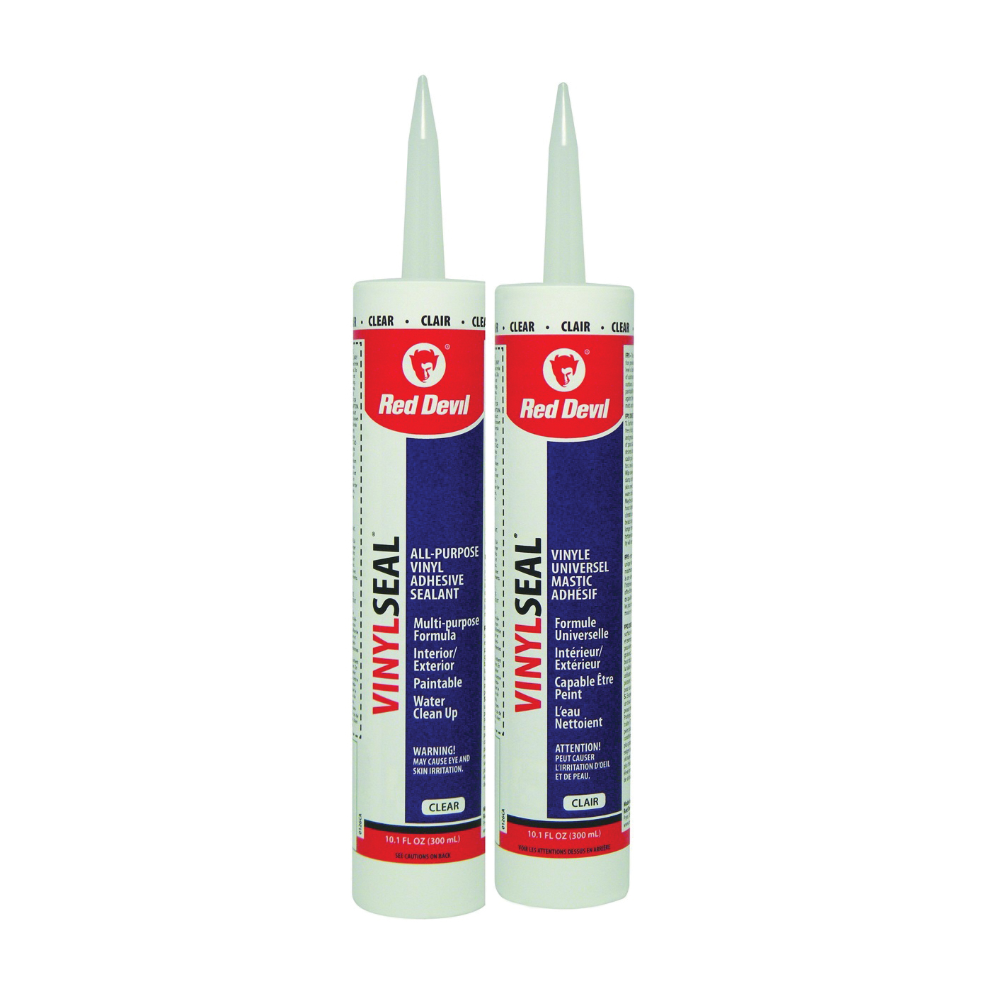 Picture of Red Devil Paint Master 00126CA Adhesive Caulk, Clear, 10.1 oz Package, Cartridge