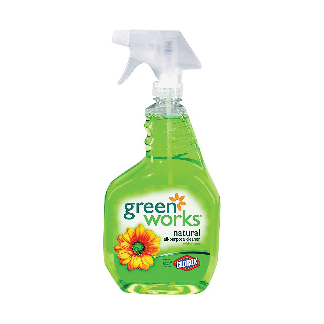 Picture of Clorox 00450 All-Purpose Cleaner, 32 oz Package, Spray Bottle, Liquid, Lemon, Natural