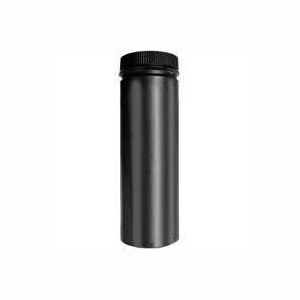 Picture of SELKIRK DSP8P24-1 Stove Pipe, 8 in ID x 8-1/2 in OD Dia, 24 in L, Aluminized Steel/Stainless Steel, Black
