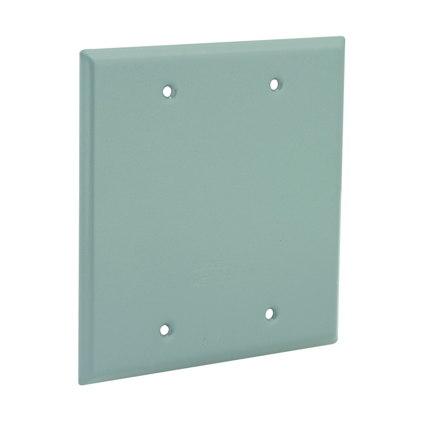 Picture of HUBBELL 5175-0 Cover, 4-1/2 in L, 4-1/2 in W, Aluminum, Gray, Powder-Coated