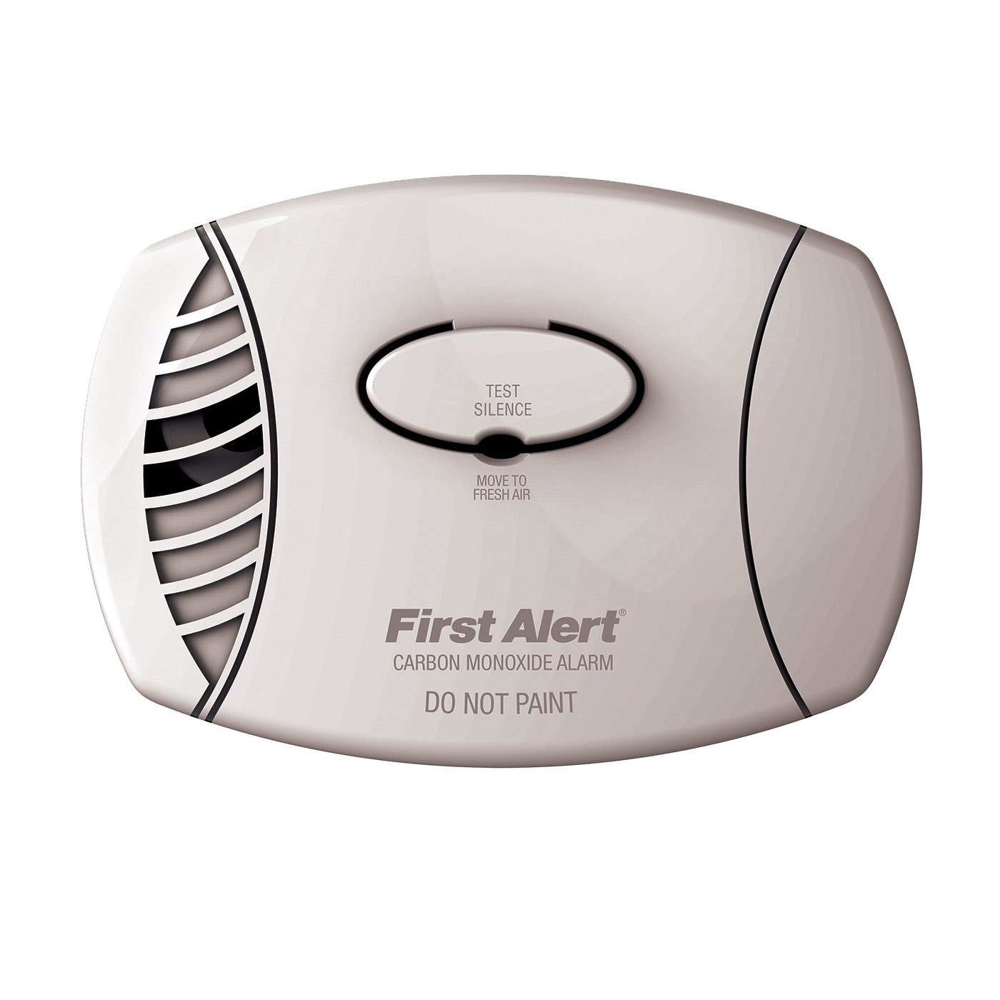 Picture of FIRST ALERT CO605 Carbon Monoxide Detector, 85 dB, Alarm: Low Battery, Electrochemical Sensor, White