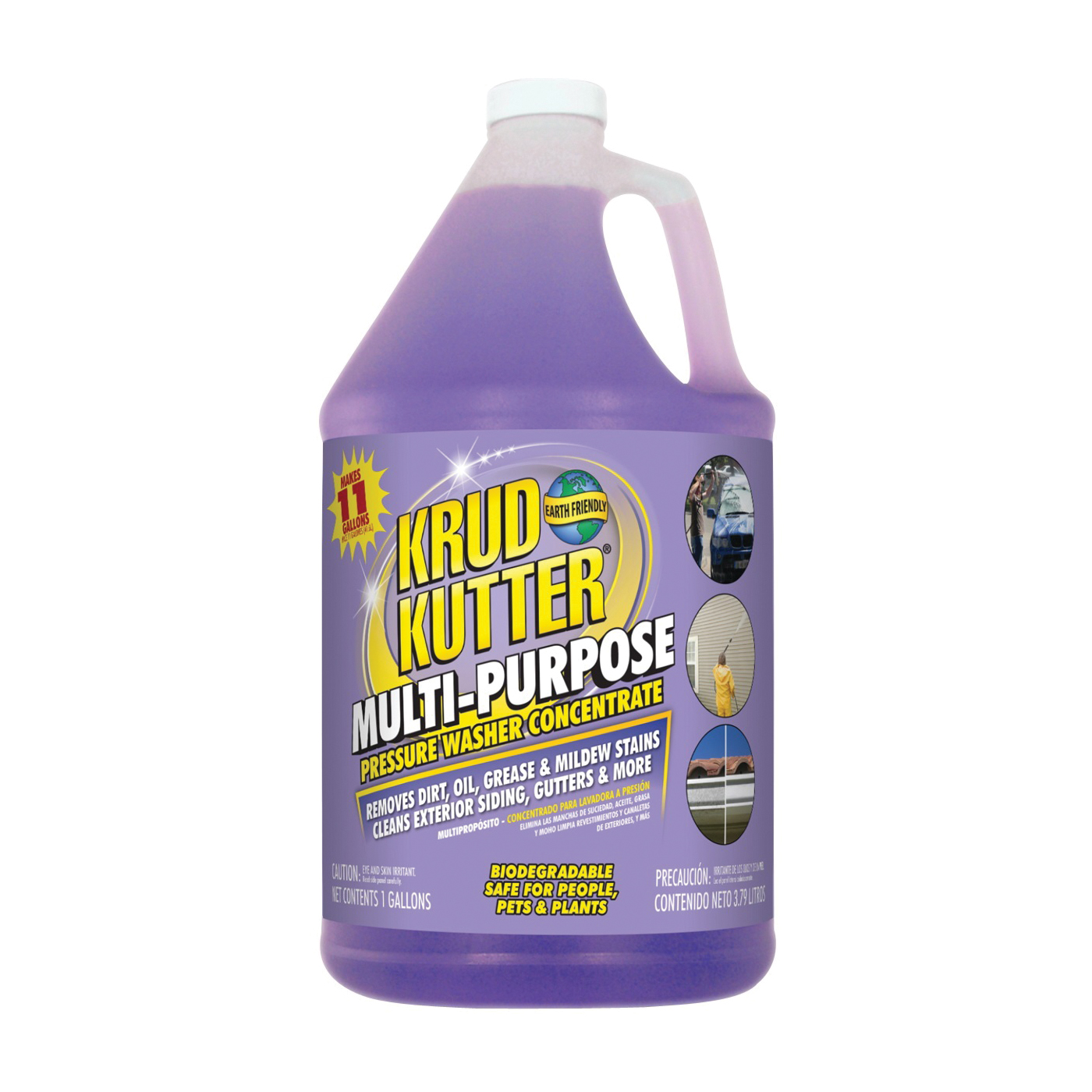 Picture of KRUD KUTTER PWC014 Pressure Washer Cleaner, Liquid, Mild, 1 gal Package, Bottle