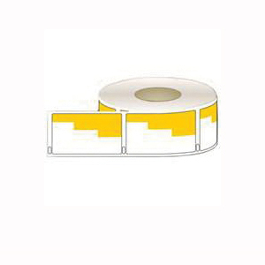 Picture of Centurion 30909 ORG Bin Label, 1-1/8 in L, 2 in W, White/Yellow Background