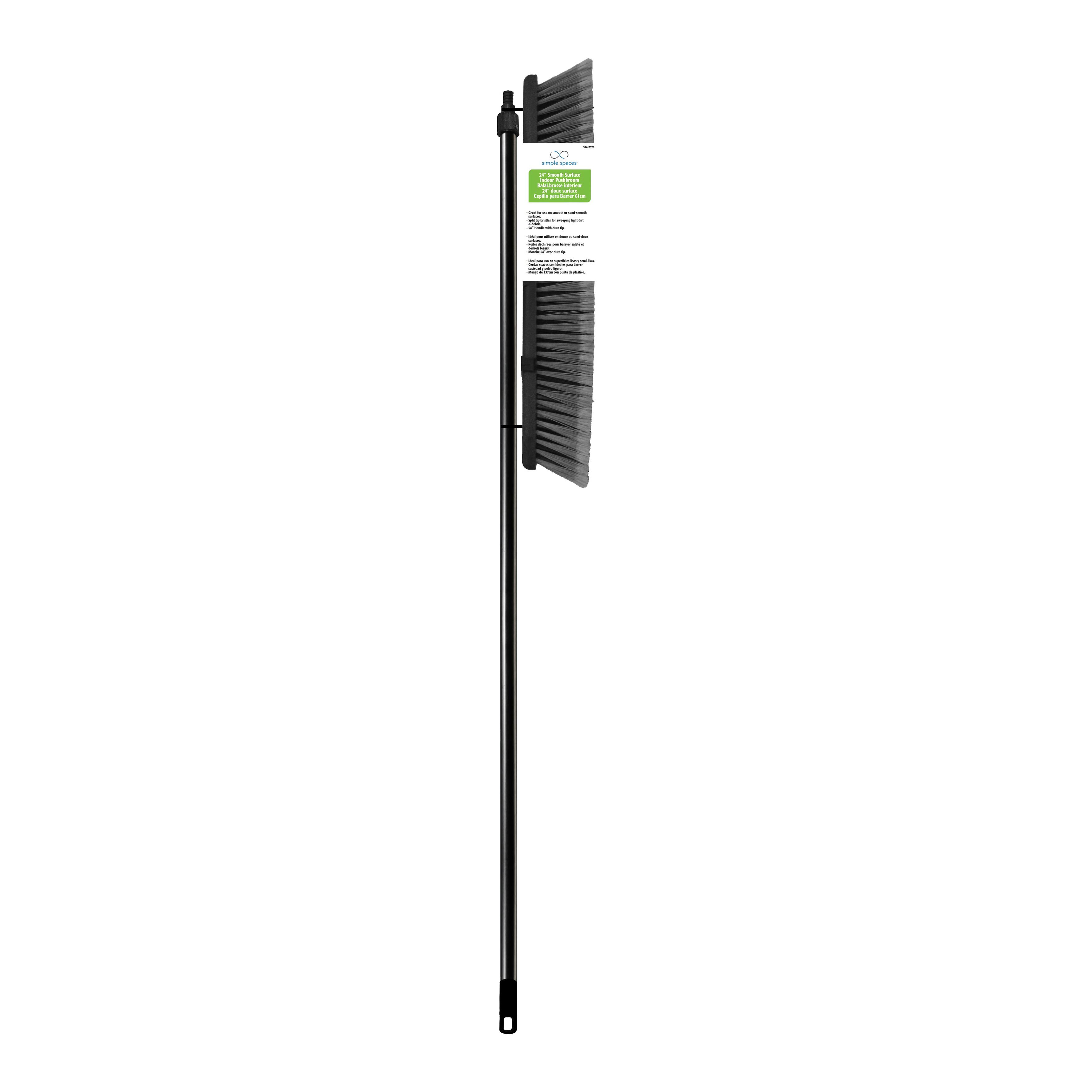 Picture of Simple Spaces 92010 Push Broom, 3-1/4 in L Trim, Natural Palmyra Fiber Bristle