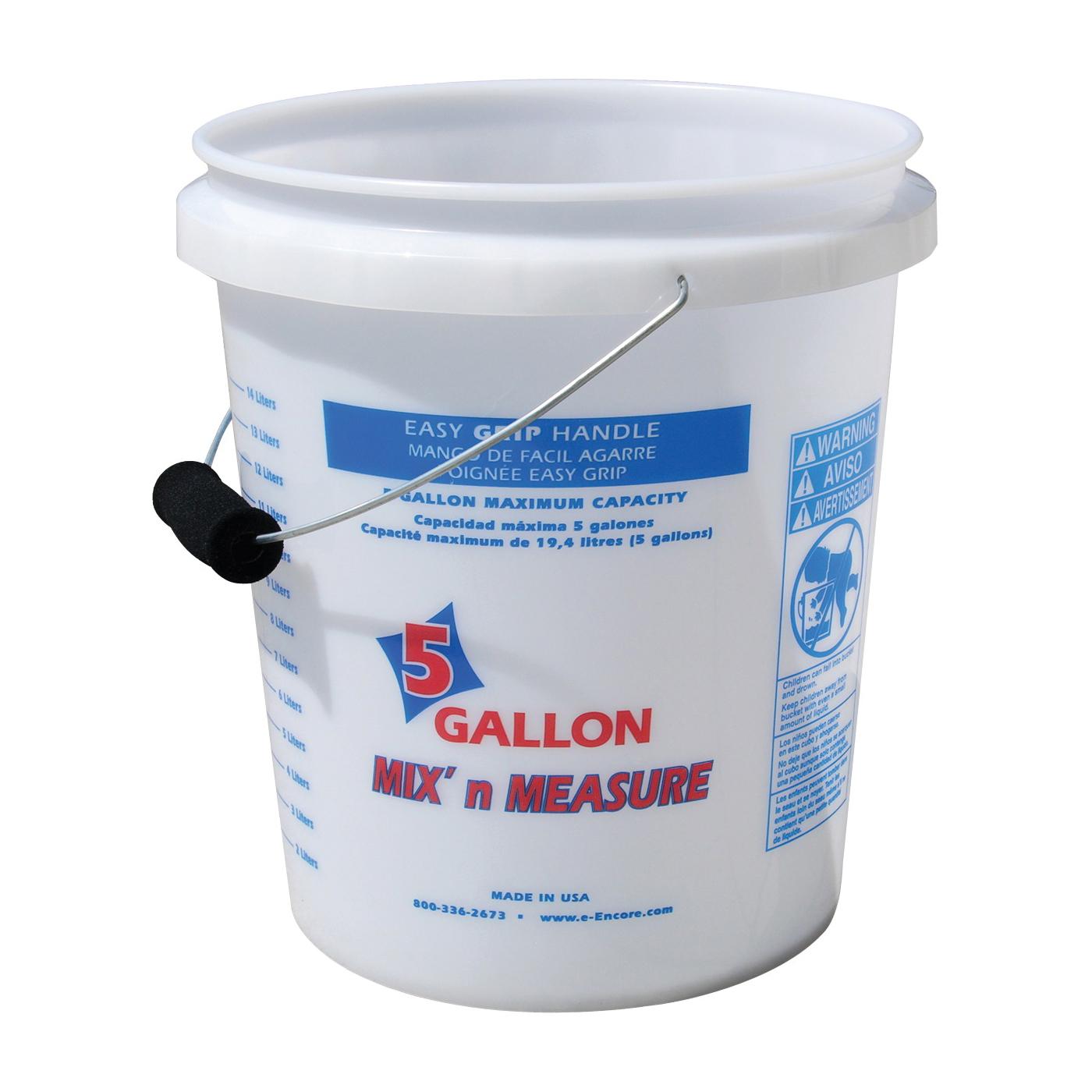 Picture of ENCORE Plastics 350001 Paint Pail, 5 gal Capacity, Plastic, White