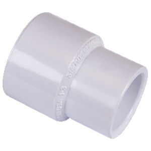 Picture of GENOVA 30117 Reducing Coupling, 1 x 3/4 in, Slip, PVC, White, SCH40 Schedule, 450 psi Pressure