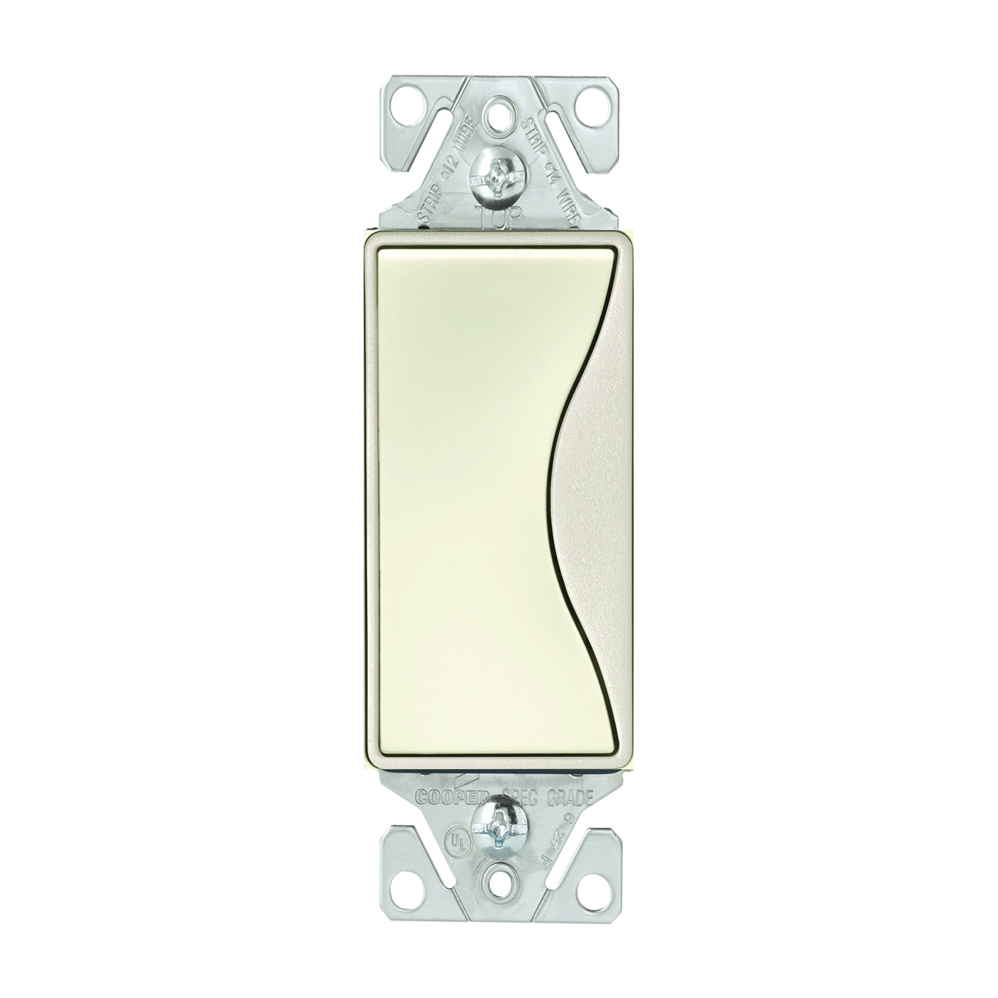 Picture of Eaton Wiring Devices ASPIRE 9501DS Rocker Switch, 15 A, 120/277 V, Single-Pole, Push-In Terminal, Desert Sand