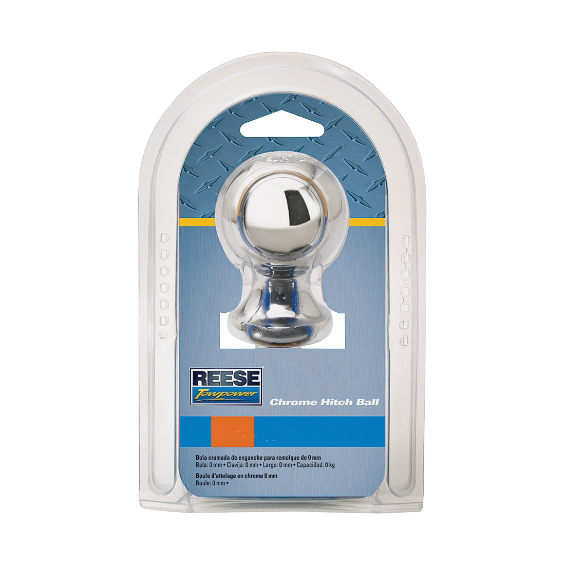 Picture of REESE TOWPOWER 7402536 Hitch Ball, 2 in Dia Ball, 3/4 in Dia Shank, 3500 lb Gross Towing, Steel