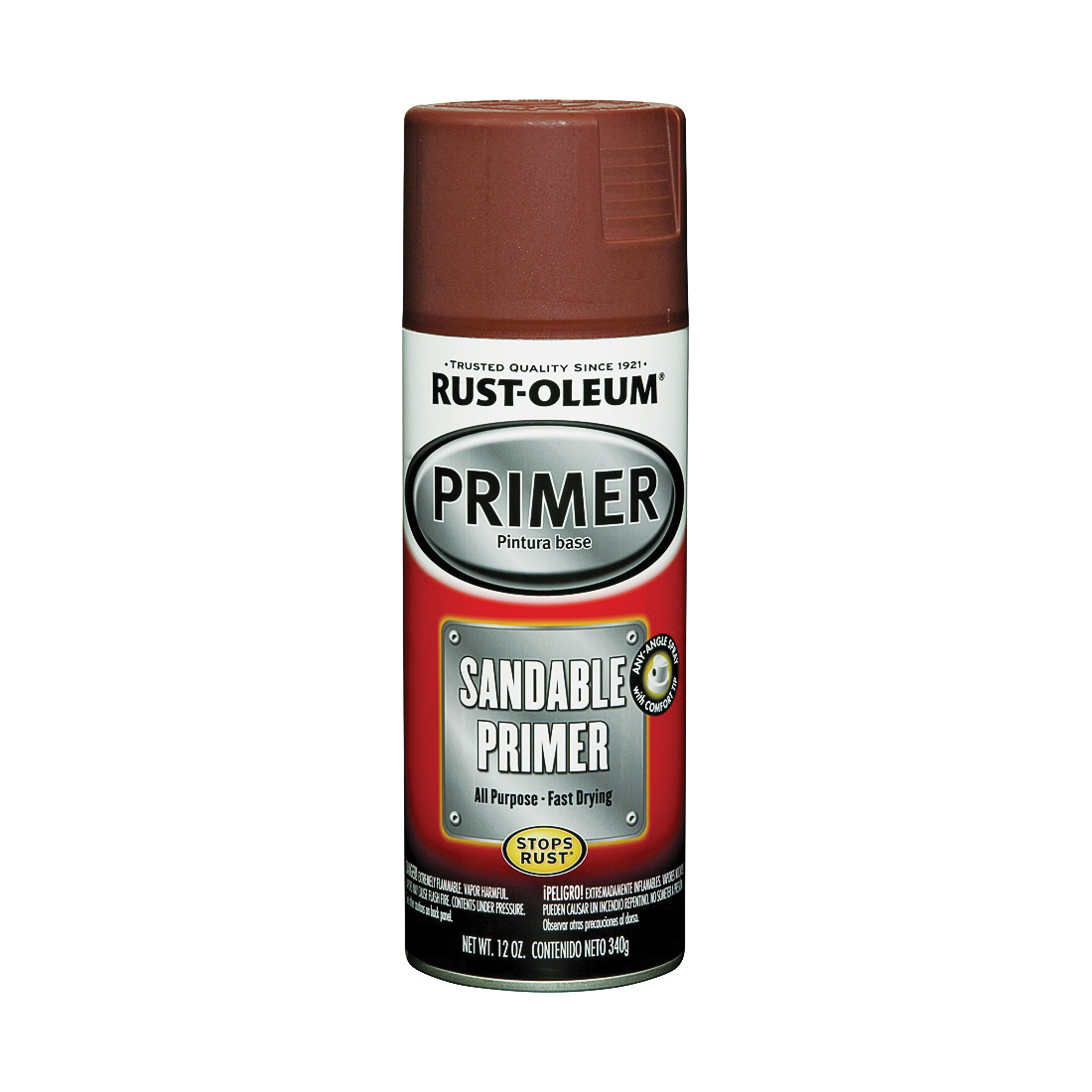 Picture of RUST-OLEUM AUTOMOTIVE 249419 Sandable Primer Spray, Red, 12 oz, Aerosol Can