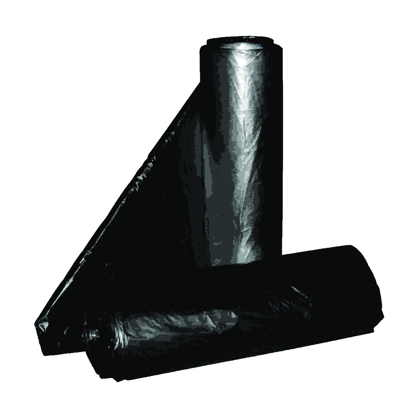 Picture of ALUF PLASTICS RL Series RL-2432H Can Liner, 12 to 16 gal Capacity, Repro Blend, Black