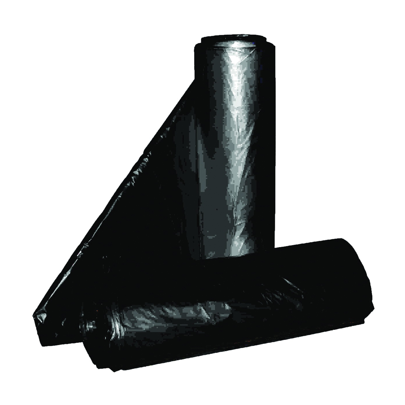 Picture of ALUF PLASTICS RL Series RL-3858XXH Can Liner, 55 to 60 gal Capacity, Repro Blend, Black