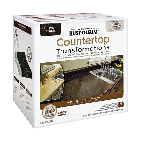 Picture of RUST-OLEUM Transformations 258283 Countertop Transformations Kit, Liquid, Mild, Java Stone
