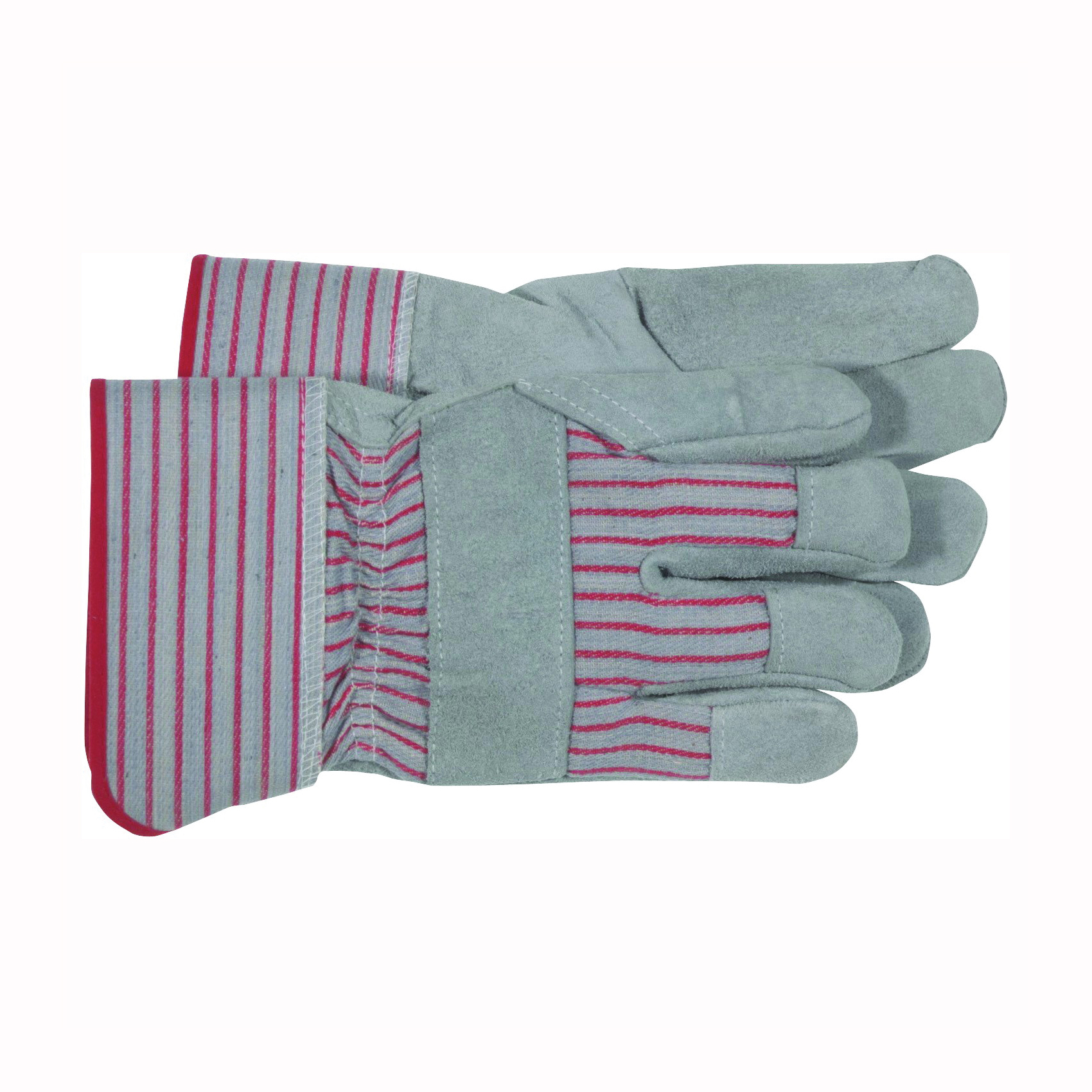 Picture of BOSS 4092 Driver Gloves, Men's, L, Wing Thumb, Rubberized Safety Cuff, Gray/Red