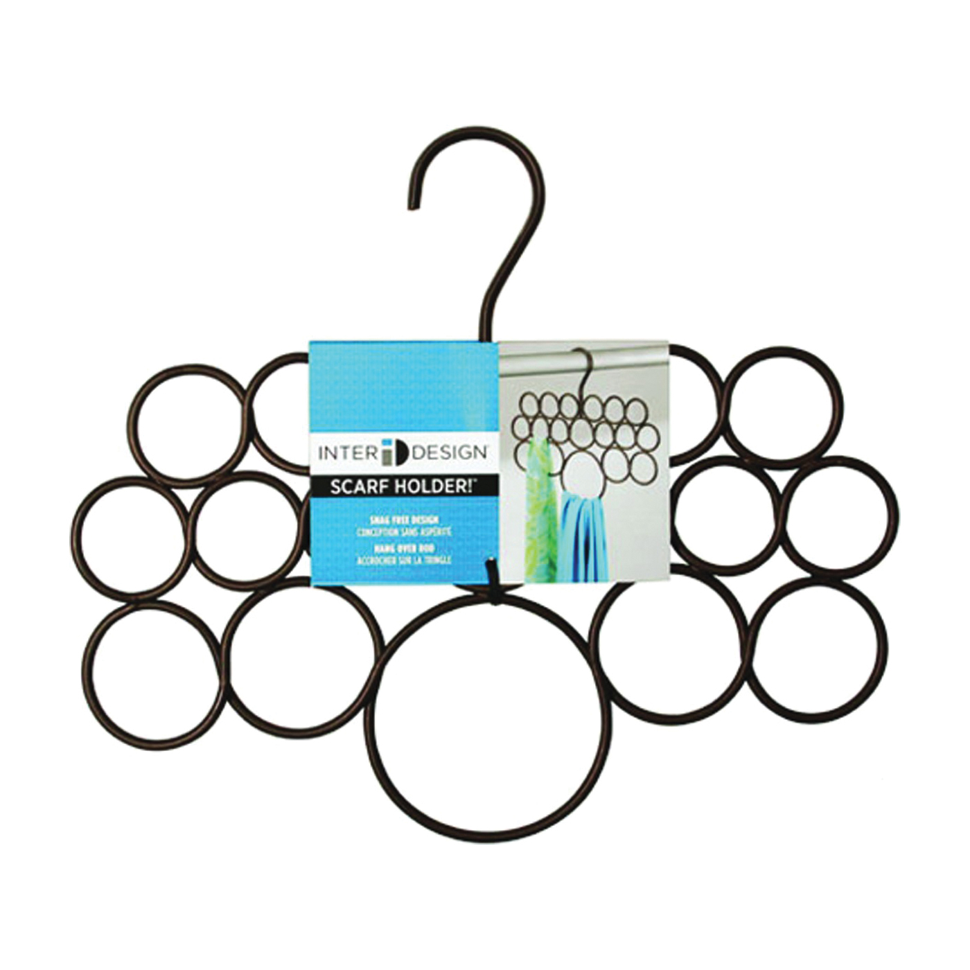 Picture of iDESIGN 24981 Scarf Hanger, Steel, Black