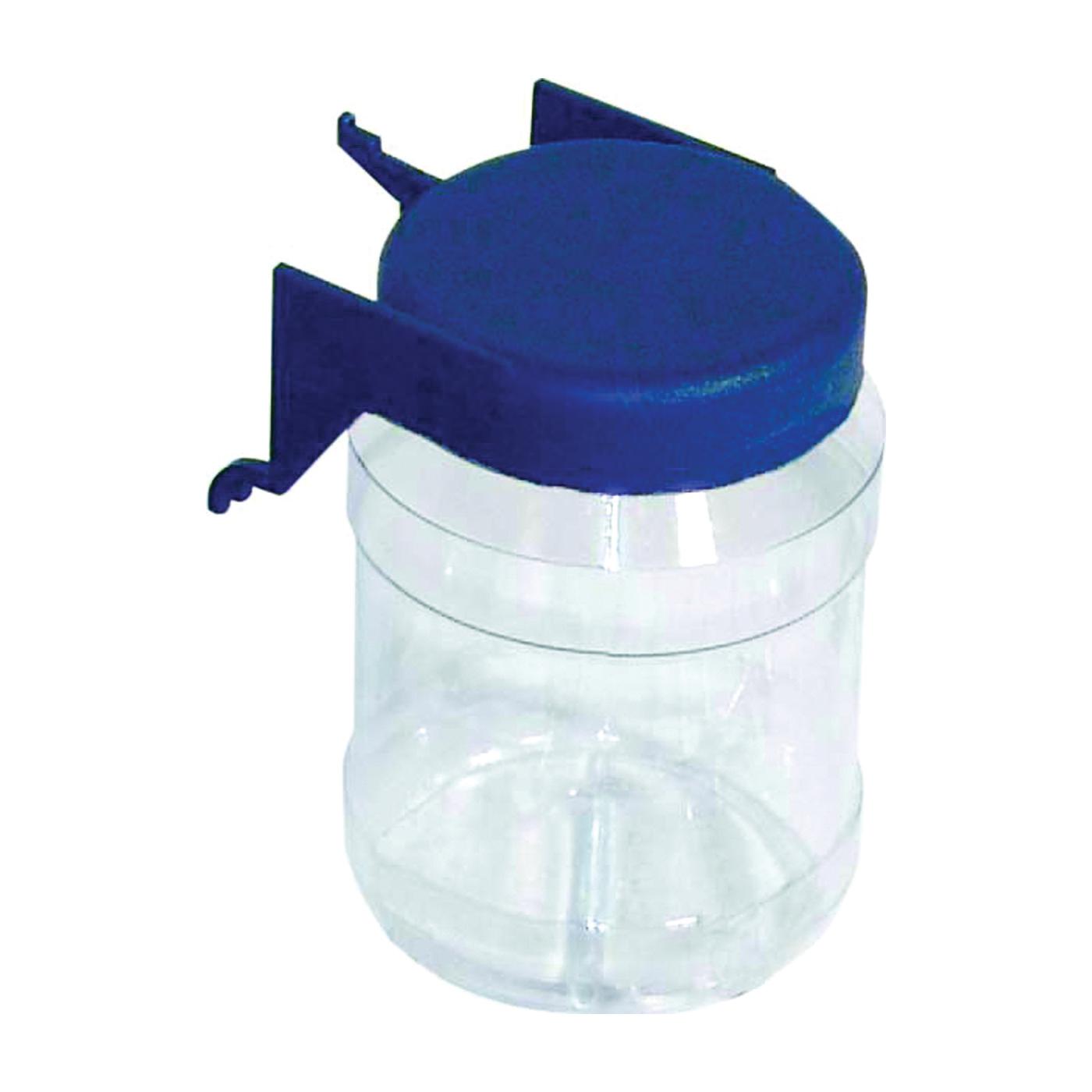 Picture of CRAWFORD JC12 Organizer Jar, 3 in L, 2 in W, 3-3/8 in H, Plastic, Clear