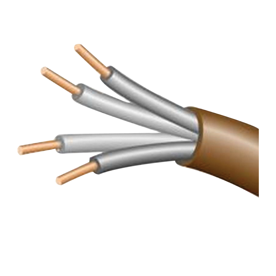 Picture of CCI 553046607 Thermostat Cable, 18 AWG Wire, 4-Conductor, Copper Conductor, PVC Insulation, Brown Sheath, 150 V