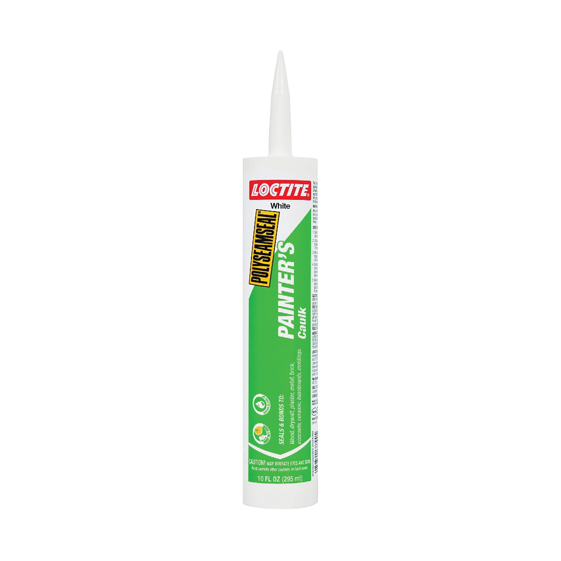 Picture of Loctite POLYSEAMSEAL 1511100 Painter's Caulk, White, 40 to 100 deg F, 10 fl-oz Package, Cartridge