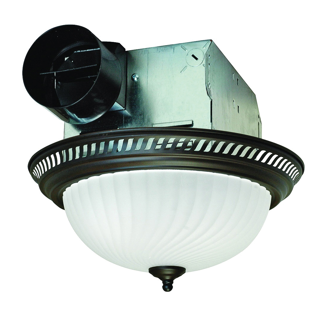 Picture of Air King DRLC701 Exhaust Fan, 1.6 A, 120 V, 70 cfm Air, 4 Sones, CFL, Incandescent Lamp, 4 in Duct