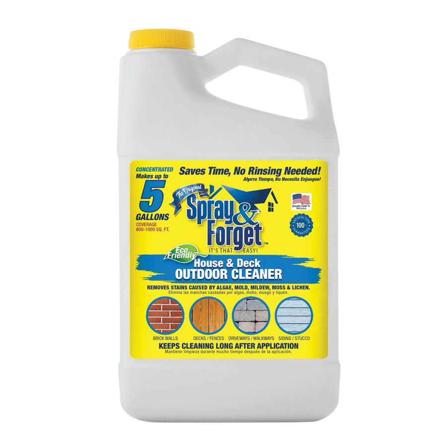 Picture of Spray & Forget SFHD64OZ-4 House and Deck Cleaner, 64 oz Package, Can, Liquid, Citrus, Orange