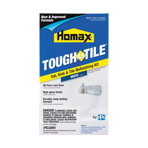 Picture of Homax Tough As Tile 3158 Tile Refinish, White, 26 oz Package