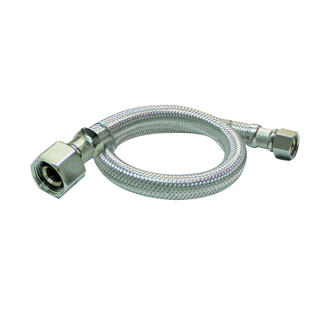 Picture of Plumb Pak EZ Series PP23817 Sink Supply Tube, 1/2 in Inlet, FIP Inlet, 1/2 in Outlet, FIP Outlet, 16 in L