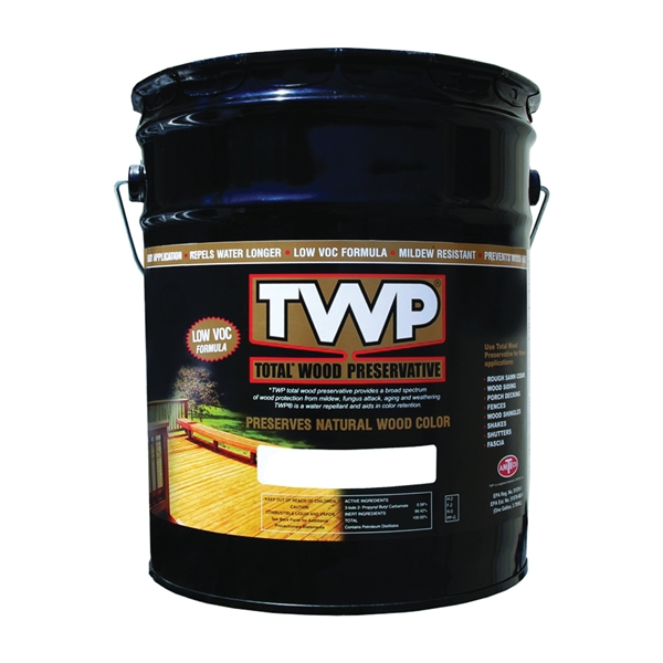 Picture of TWP 1500 Series TWP-1502-5 Stain and Wood Preservative, Redwood, Liquid, 5 gal, Can