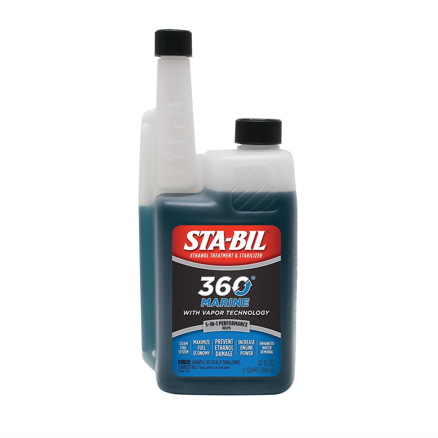 Picture of STA-BIL 360°Marine 22240 Fuel Stabilizer Red, 32 oz Package, Bottle